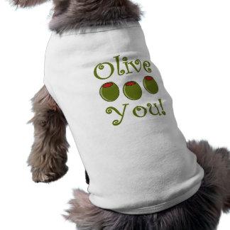 Foodie Olive You Sleeveless Dog Shirt