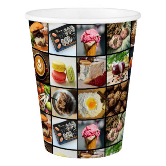 Foodie Photo Collage paper cups