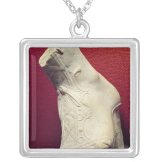 Foot from a statue silver plated necklace