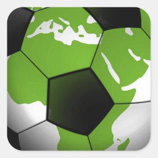 Football around the World Square Sticker