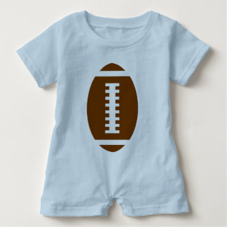 FOOTBALL BABY Light Blue   Front Football Graphic Baby Bodysuit