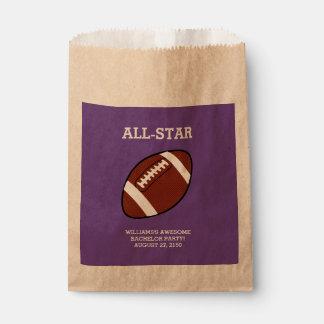 Football Bachelor Party Favor Bags Favour Bags