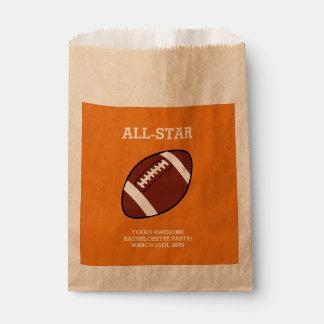 Football Bachelorette Party Favor Bags Favour Bags