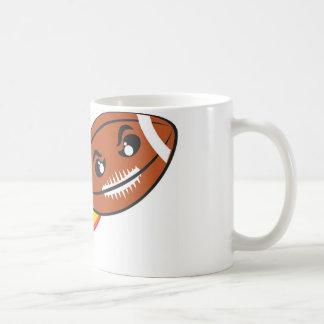 Football ball on fire basic white mug