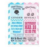 "Football Cheerleader Gender Reveal Invitation 5"" X 7"" Invitation Card"