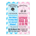 Football Cheerleader Gender Reveal Invitation