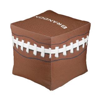 Football Design Square Pouf