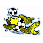 Football Fish Soccer Post Cards