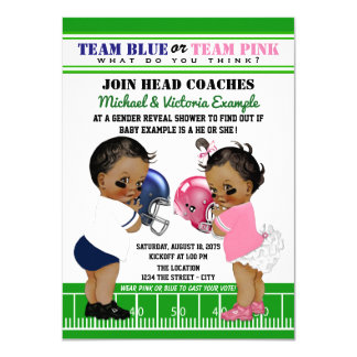 Football Gender Reveal Ethnic Shower Invitations