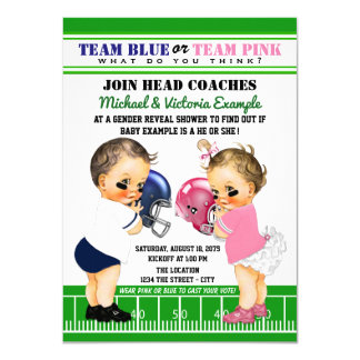 Football Gender Reveal Shower Invitations
