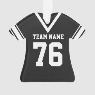 Football Jersey Black Uniform with Photo Ornament