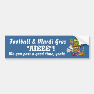 Football Mardi Gras Voodoo Skelly View Notes  Plse Bumper Stickers