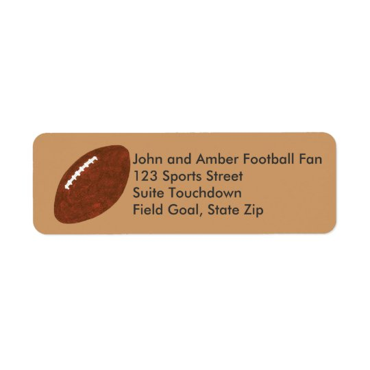 Football Painting Return Address Labels