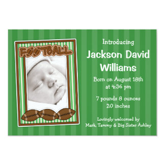 Football Photo Birth Announcement