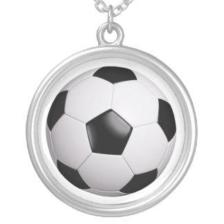 football round pendant necklace