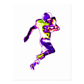Football Runner Purple Transp The MUSEUM Zazzle Gi Postcards