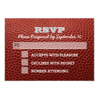 Football Silver Bar Mitzvah RSVP Card 9 Cm X 13 Cm Invitation Card