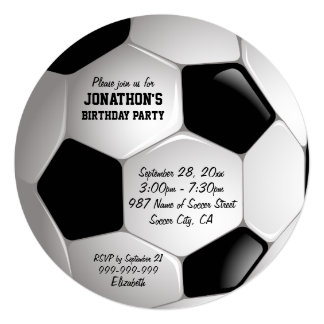 Shop Zazzle's selection of football birthday invitations for your party!