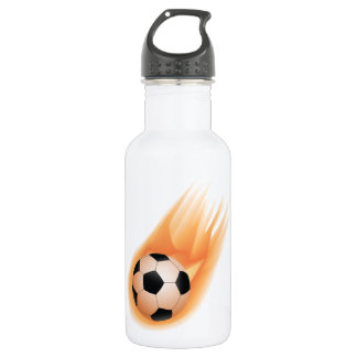 football, soccer ball fire 532 ml water bottle