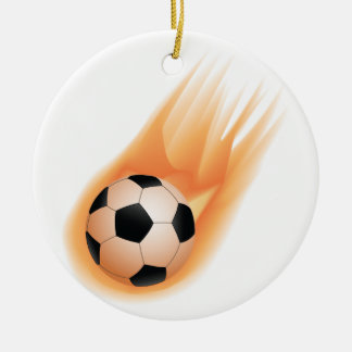 football, soccer ball fire round ceramic decoration