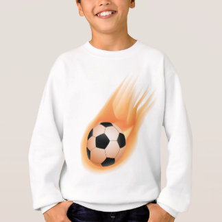 football, soccer ball fire sweatshirt
