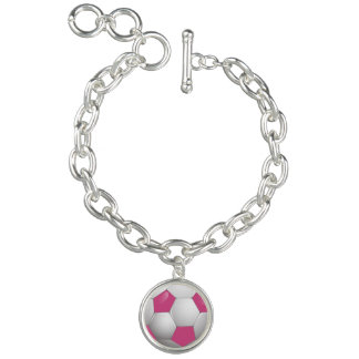 Football Soccer Ball Pink and White