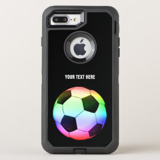 Football   Soccer Colorful Girly Gift OtterBox Defender iPhone 8 Plus/7 Plus Case