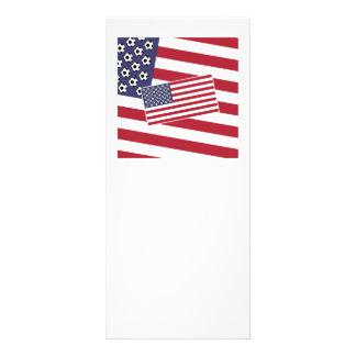 Football Soccer USA Flag Customised Rack Card