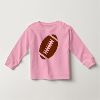 FOOTBALL TODDLER Pink | Front Football Graphic Toddler T-Shirt