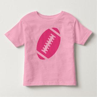 FOOTBALL TODDLER Pink | Front Pink Football Toddler T-Shirt
