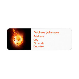 Football under Fire, Ball, Soccer Return Address Label