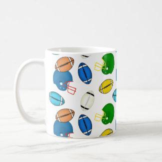 Footballs and Helmets theme Coffee Mug