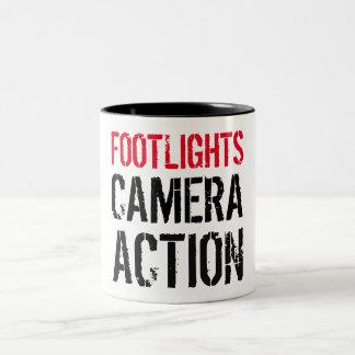 Footlights Camera Action Mug