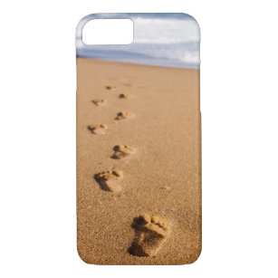 Footprints in the Sand Phone Case