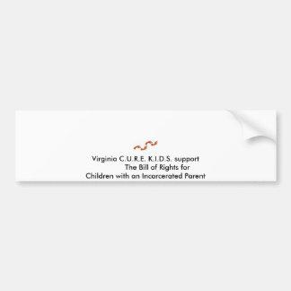 footsteps3, Virginia C.U.R.E. K.I.D.S. support ... Bumper Sticker