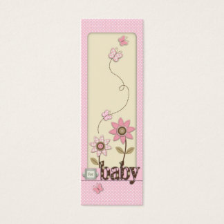For Baby Girl Skinny Gift Tag Mini Business Card