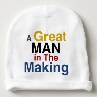 for boys and kids - a great man in the making baby beanie