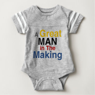 for boys and kids - a great man in the making baby bodysuit