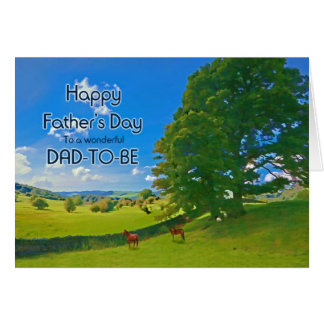 For Dad-to-be, a Pastoral landscape Father's Day Card