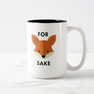 For Fox Sake Two-Tone Coffee Mug