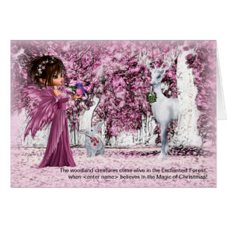 for Girls Christmas Enchanted Forest with her Name Card