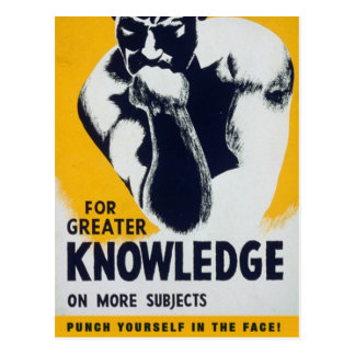 For Greater Knowledge Postcard