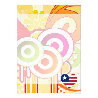 For Kids: Cool Liberia 13 Cm X 18 Cm Invitation Card
