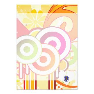 For Kids: Cool Massachusetts 13 Cm X 18 Cm Invitation Card