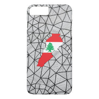For Kids: Creative Lebanon Flag With Map iPhone 8 Plus/7 Plus Case