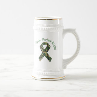 For My Father-in-Law Military  Ribbon Beer Stein