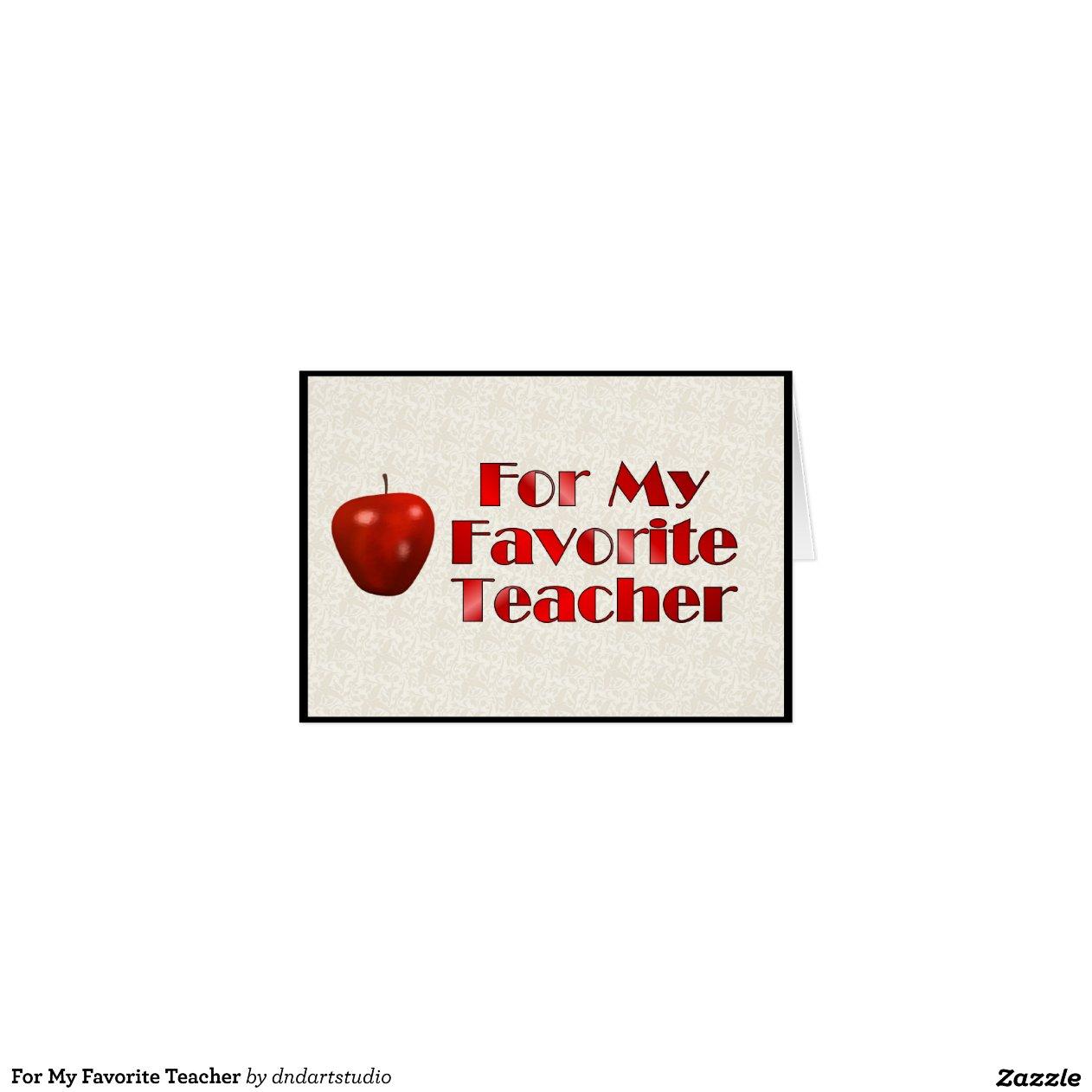 Sorry, my favourite teacher