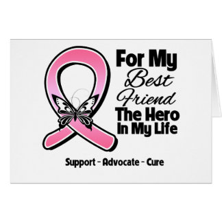 For My Hero My Best Friend Breast Cancer Greeting Card