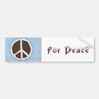 For Peace chocolate peace pie bumper stickers