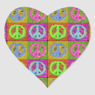 FOR PEACE HEART STICKERS